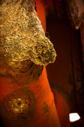 Buildup of mineral deposits on old metal pipe turned into abstract form of art Abstract Backgrounds Buildup Calcium Change Chemical Close-up Detail Dirty Focus On Foreground Fragility Full Frame Metal Minerals Mystery Natural Pattern Nature Old Pipe Residue Rough Rust Rusty Selective Focus Wet