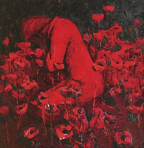 Николай Залозный Маки Шикарнейшая картина, которая поражает до глубины души... залозный картина маки поражает Боль