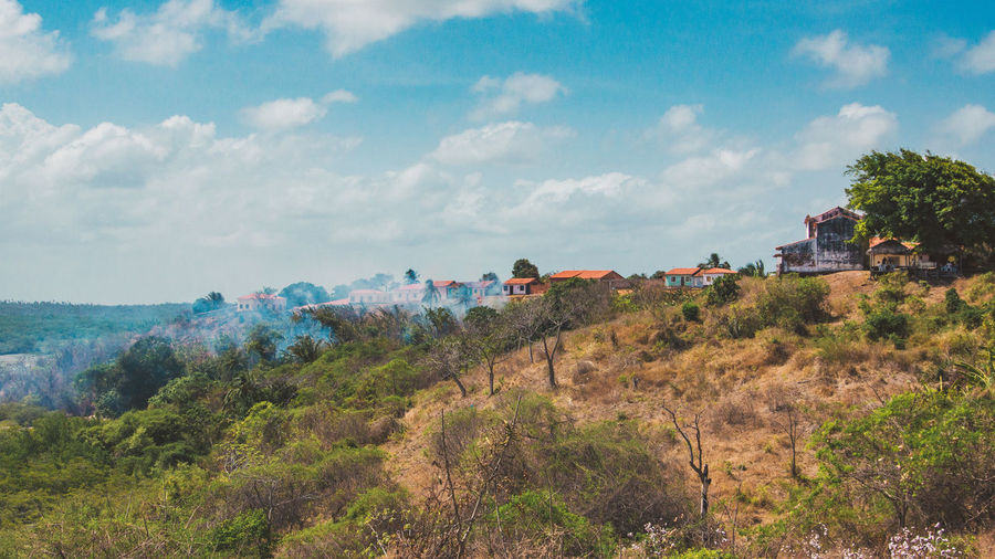 Exploring the ghost town of Alcantara. Adventure Architecture Beauty In Nature Building Exterior Cloud - Sky Colonial Day Discover Your City Explore Forest Grass Island Landscape Nature No People Outdoors Scenics Sky Smoke Travel Travel Destinations Traveling Tree Urbex Woods The Street Photographer - 2017 EyeEm Awards The Photojournalist - 2017 EyeEm Awards EyeEmNewHere This Is Latin America The Great Outdoors - 2018 EyeEm Awards