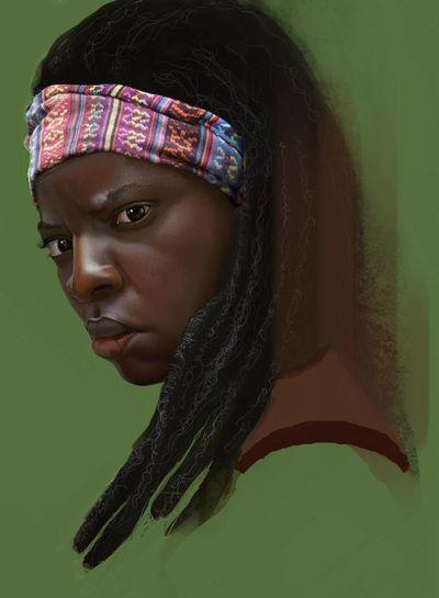 Michone- the walking dead Digital Painting Digital Art Santarém The Walking Dead