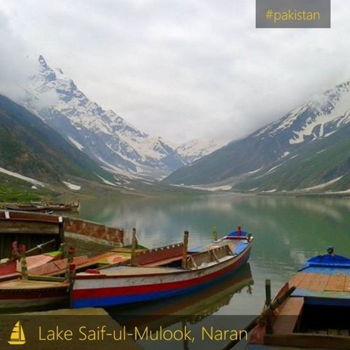 A view of Lake Saif-ul-Mulook in an overcast morning of June 2013, one of the most beautiful lakes of Pakistan.
