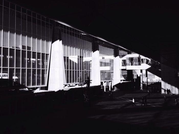 Darkness And Light Airport Pulkovo Black And White Saint Petersburg