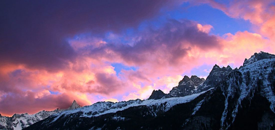Mountain Sunset Mountain Range Mountain Peak Snow Landscape Multi Colored No People Outdoors Nature Scenics Beauty In Nature Sky Day Galaxy Snowboarding Beauty In Nature Chamonix-Mont-Blanc Nature Photography France Cold Temperature Offpiste Forest Cloud - Sky Winter Shades Of Winter