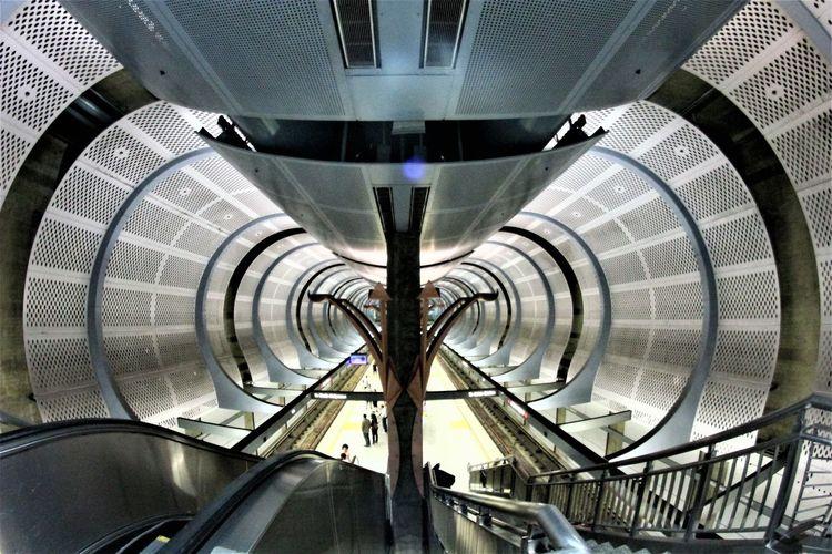 A Stunning Glance Architecture Built Structure Escalators Mode Of Transport Modern Tourism Transportation Travel Travel Destinations The Art Of Street Photography