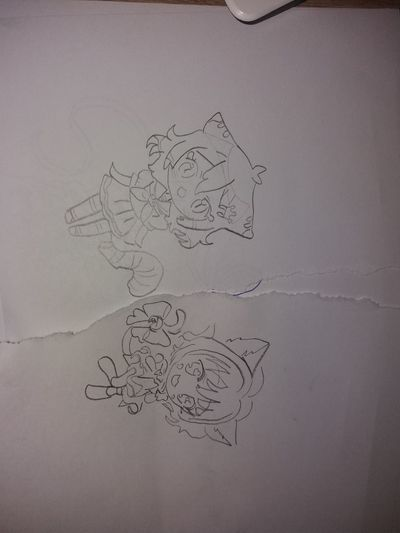 Kaja Manga.....2 Manga Manga: Fan Art Mangaart Mangagirl Mangaeyes Sketch Drawing - Art Product Ink Paper Handwriting  Drawing - Activity Doodle Pencil Drawing No People Sketch Pad Day