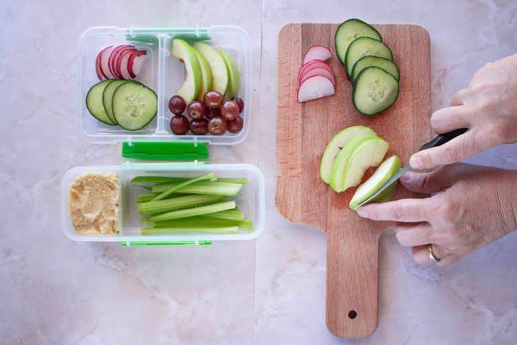Meal Cutting Board Food Food And Drink Freshness Fruit Healthy Eating Healthy Lifestyle High Angle View Kitchen Knife Lifestyles Meal Planning Preparation  Preparing Food Vegetable Wellbeing