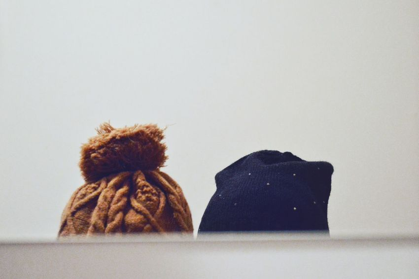 Two Caps Minimal Minimalobsession Two Is Better Than One Two Objects Warm Clothing Warm Clothes Textile Textile Industry Winter Clothing The Week On EyeEm Point Of View Mirror Reflection