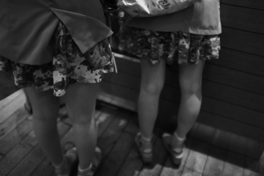 Twins Legs Monochrome Jane Doe