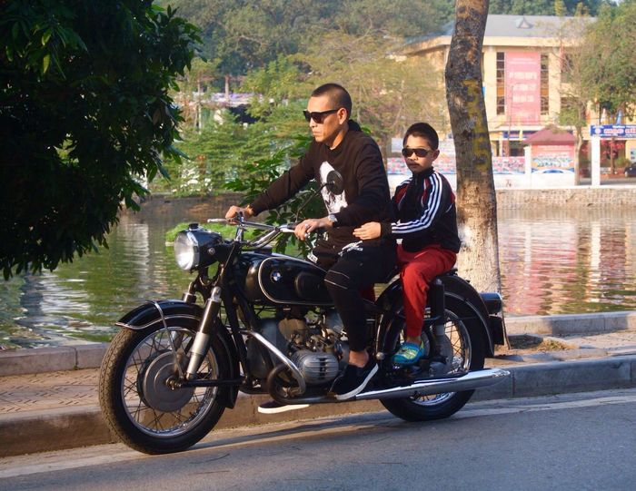 Hanging Out Truc Bach Lake, Hanoi Father And Son Triumph Quality Time Family❤ Enjoying Life Hanoi, Vietnam Amatuer Photographer Up Close Street Photography Bmw Bmw Motorcycle