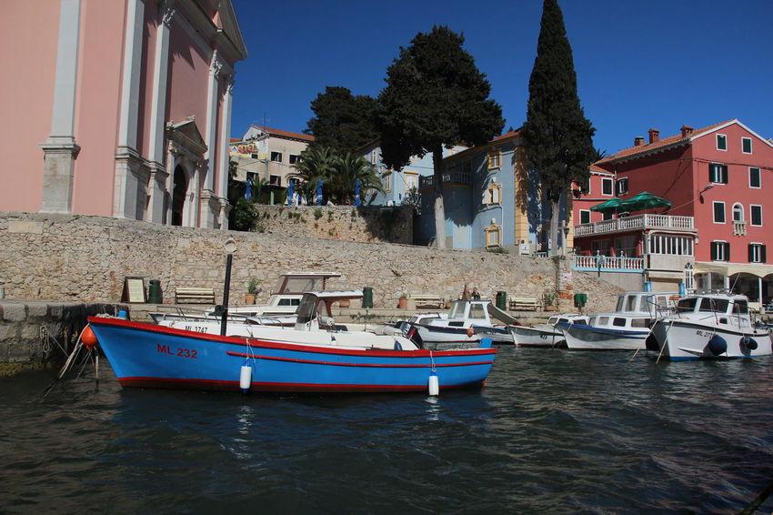 Croatia Hafen Harbour Island Life Kroatien Mediterranean  Veli Lošinj Boat Nature Sky Water Waterfront