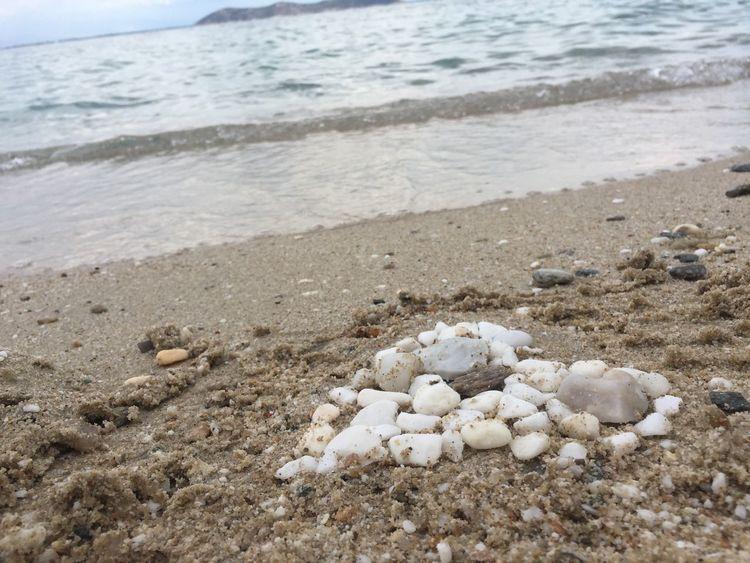 Heart Beach Sea Stones Romantic Love Greece Paradise Island Thassos