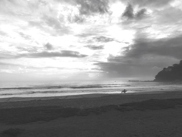 Morning surf... Sea Beach Sky Horizon Over Water Water Sand Nature Outdoors Scenics Real People Beauty In Nature Cloud - Sky One Person Day Men People Sunrise Morning Sky Early Bird Surf Morning Sport Wake Up Early