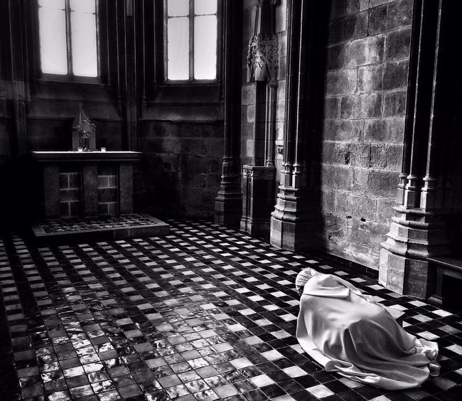 The Explorer - 2014 EyeEm Awards Church France Praying A peaceful moment at the abbey of Mont Saint Michel