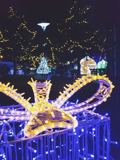 Arts Culture And Entertainment Celebration Illuminated Performance Night Multi Colored Amusement Park Ride