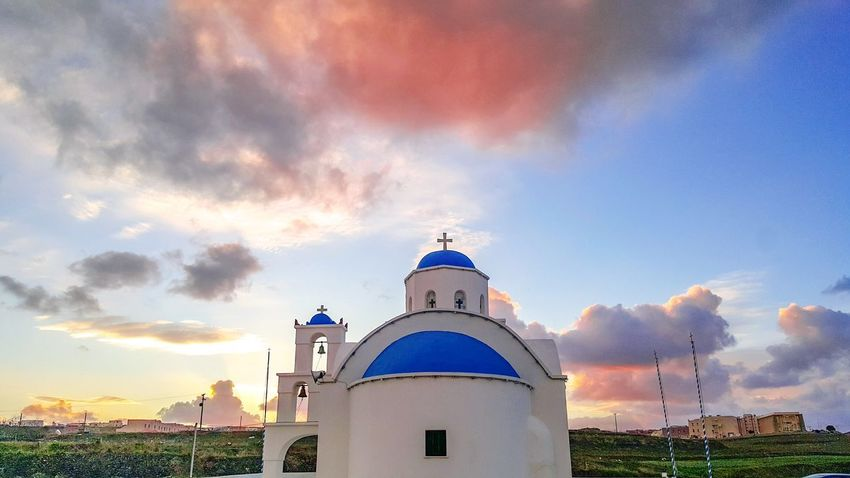 Sunset Dome Cloud - Sky Sky Architecture History Travel Destinations No People Religion Building Exterior Outdoors Politics And Government Cityscape Day Summer City