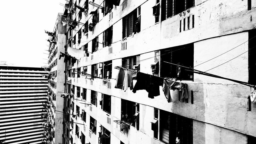 B&w Street Photography this is how HongKongers Doing Laundry Abandoned Buildings Pmg_hok