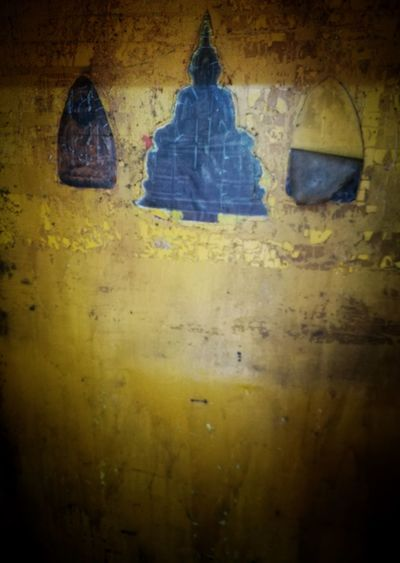 Schadow Wall - Building Feature Mess Up Old Buddhism Wall Surface Yellow Colour Art Religion Background Light