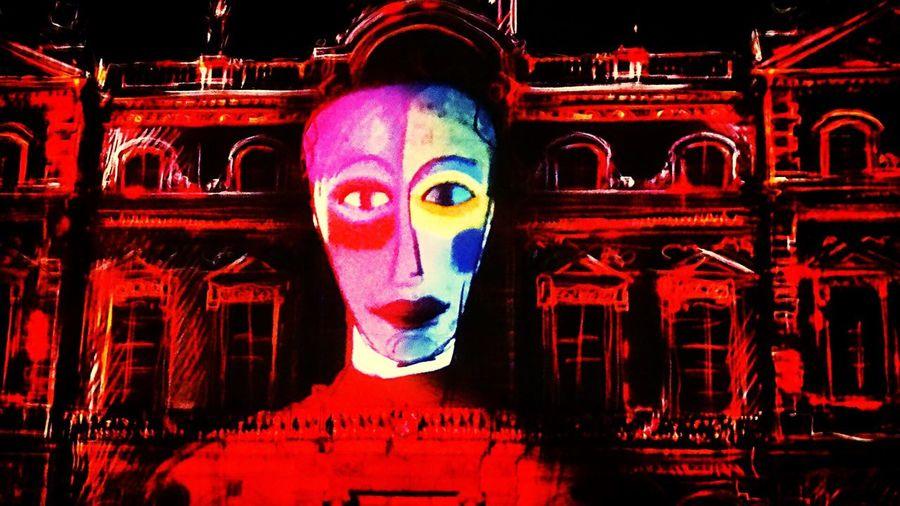 Fête des Lumières - Projection sur la façade de l'hotel de ville de Lyon. Décembre 2014 Fete Des Lumieres - Lyon -