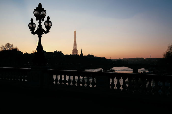 La tour Eiffel. Paris France Eiffel Tower Evening Nightphotography