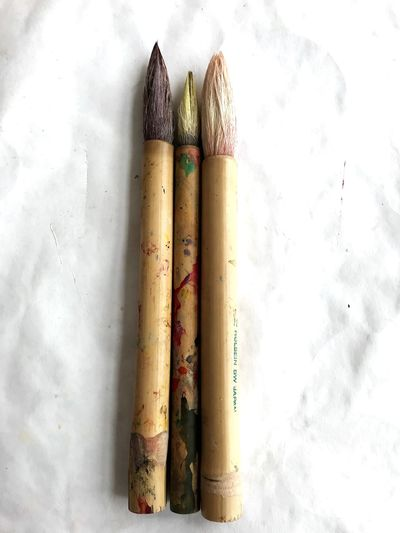 Paint EyeEm Selects Still Life No People Pencil Writing Instrument Art And Craft High Angle View
