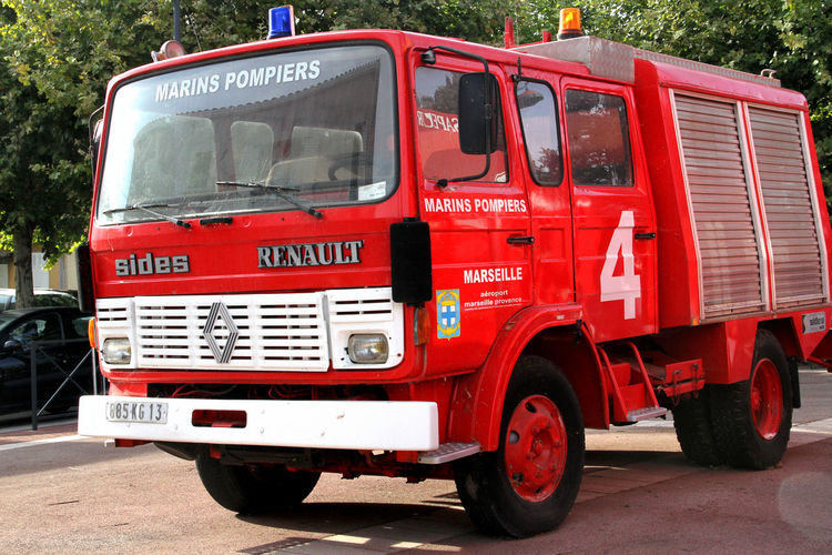 Day Fire Truck French Fire Truck Fuel Pump Land Vehicle Mode Of Transport Motor Vehicle Outdoors Public Transport Red Semi-truck Stationary Street Transportation