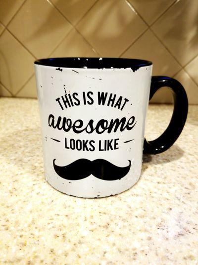Coffee mug big huge giant drink cup kitchen mustache