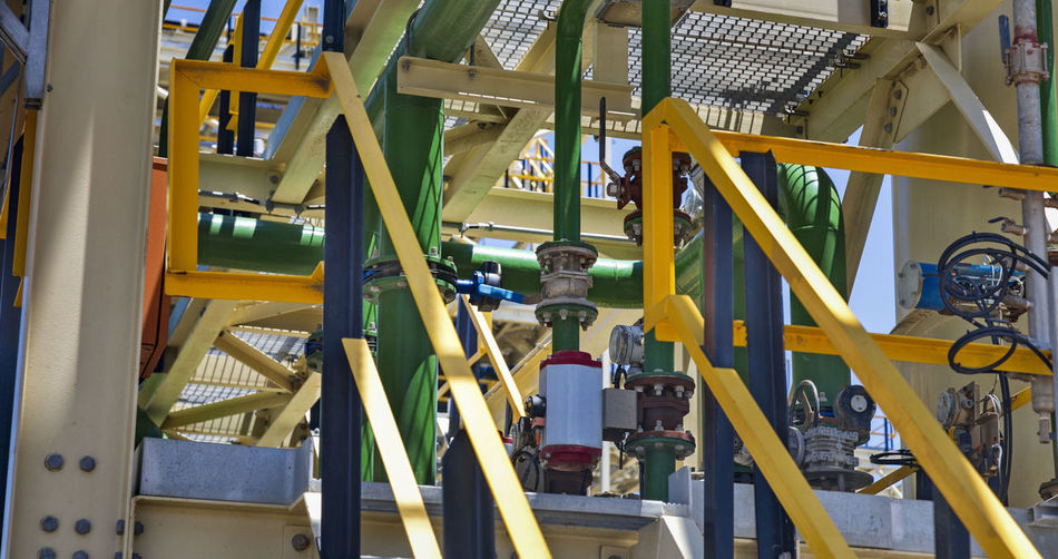 Low angle view of machinery