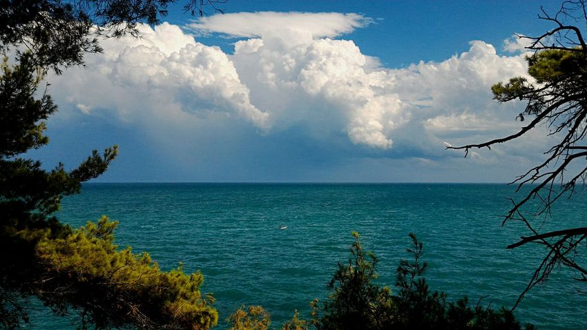 Fungonuvola Mushroomsky Mushroom Sky Cloud Mushroomcloud Horizon Over Water Sea Water Outdoors No People Scenics Rocksea Rocce Horizon Orizzonte Finestate Endofsummer Conero Italy Vacation