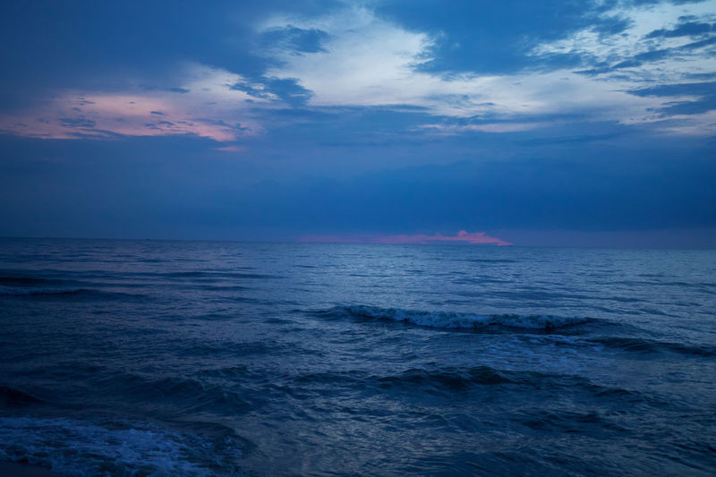 Beauty In Nature Blue Cloud - Sky Horizon Horizon Over Water Idyllic Nature No People Outdoors Remote Scenics - Nature Sea Seascape Sky Tranquil Scene Tranquility Water Waterfront Wave