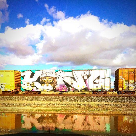train graffiti art I Am New Here Train Desert Day