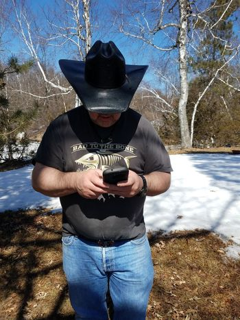 My husband. On a beautiful Sunday. One Person Nature Hat Water Casual Clothing Men Outdoors Standing Obscured Face