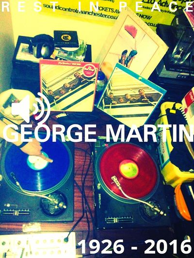 George Martin died today. A genius. Rest in peace. George Martin Rip George Martin George Martin Tribute Beatles Beatles Vinyl Albums Coloured Vinyl Manchester