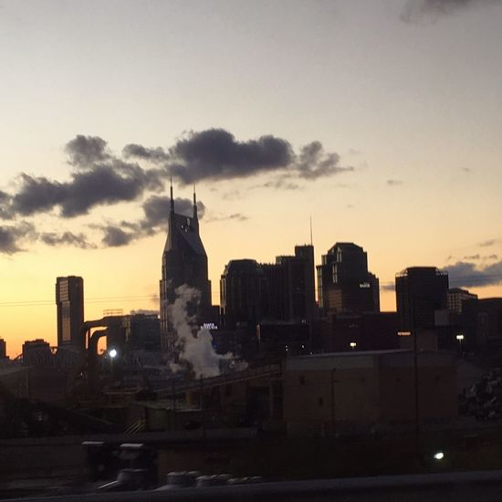 Downtown Nashville NASHVILLE,TENNESSEE Gotham Batman Building High Rise Steam Moody Sunset City Cityscape No Filter Market