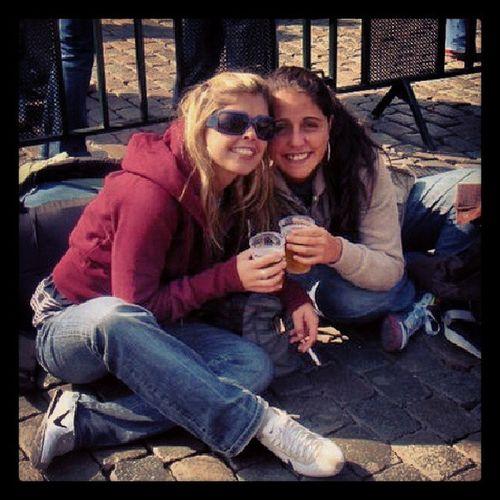 Feliz dia da irmã!!! Mochilão Giraomundo Bruxellas Saúde cheerssanteamizadesaudades