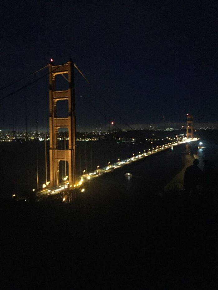 The Golden Gate at night 👍