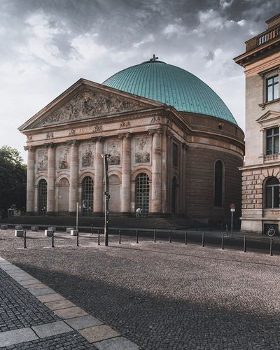Architecture Building Exterior Built Structure Sky Cloud - Sky Religion Nature Belief Dome Building Day Place Of Worship Spirituality City No People Travel Destinations Outdoors Street Architectural Column