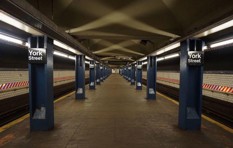 Indoors  No People Day Train Station Lines Platform