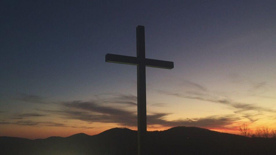 Jesus saves! Cross Jesus Jesus Christ Sunset Nature Mountain Mountains Mountains And Sky Jesus Saves