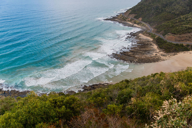 Australia, Great Ocean Road Nature Beach Beauty In Nature Day High Angle View Land Nature No People Outdoors Scenics - Nature Sea Water Wave