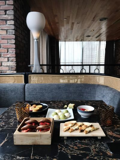 Desserts Food And Drink Food Freshness No People Healthy Eating Day Table Wellbeing Still Life Built Structure Indoors  Architecture Meal Fruit Window Variation Breakfast Wood - Material Plate Sunlight