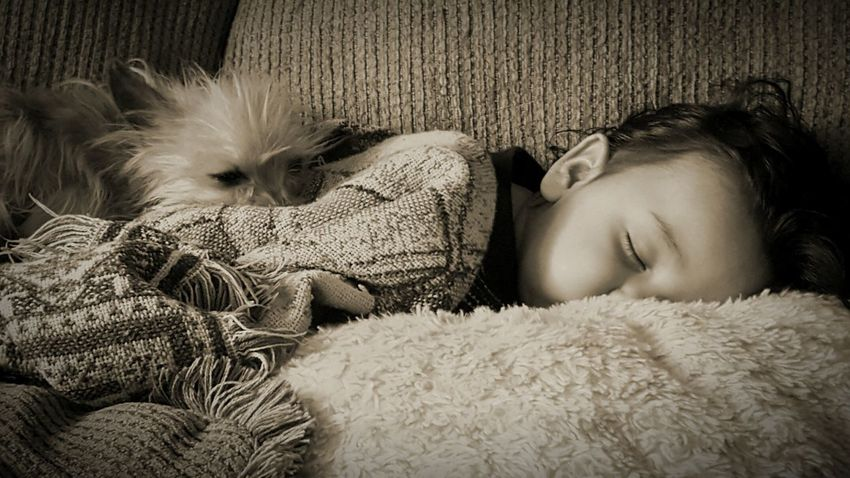 The tiny dog loves his baby buddy! Dog Love Sleeping Dog Sleeping Boy