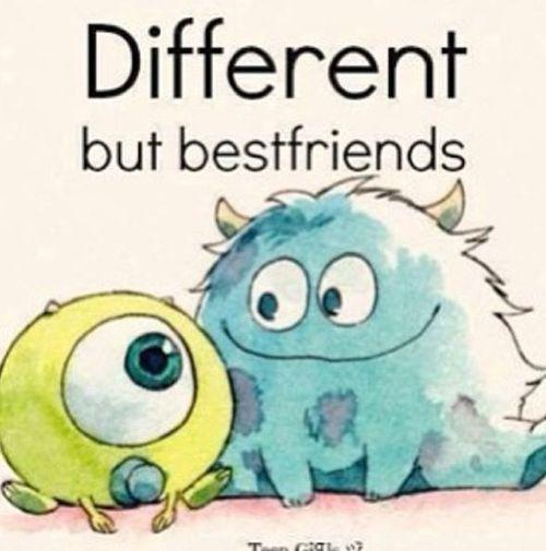Bestfriends <3 Awww Monsters INC