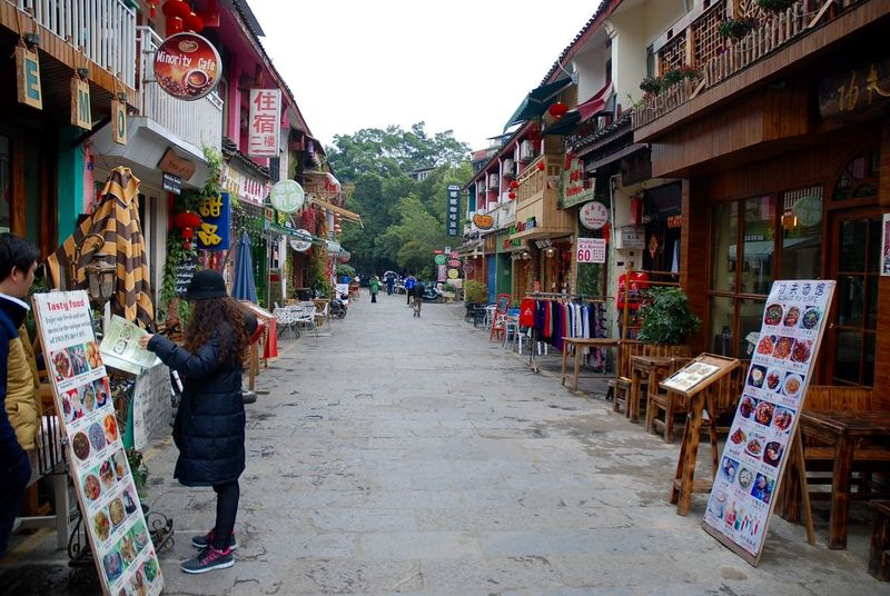 Building Exterior Built Structure Chinese Village City Day Guilintrip Market Multi Colored Outdoors Store Travel Destinations