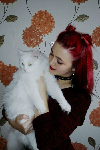 Me And Cat Cats 🐱 Cat Lovers Smile ✌ Selfie ✌