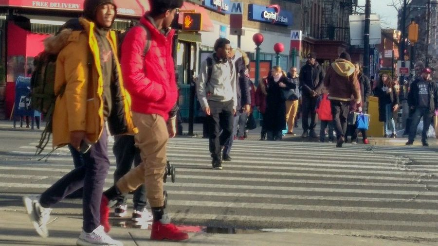 Inwood. photo by Shell Sheddy Documentary Photography Photo Journalism Sheshephoto Shellsheddyphotography Streetphotography City City Life Street City Street Pedestrian Crosswalk Crossroad Road Intersection Pedestrian Crossing Sign Streetwise Photography