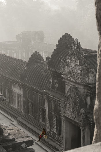 Architecture Built Structure Building Exterior City Day Transportation Nature Building Mode Of Transportation Sky History The Past Outdoors Incidental People Travel High Angle View Arch Old Motor Vehicle Cityscape Angkor Wat, Cambodia Make A Break Black And White