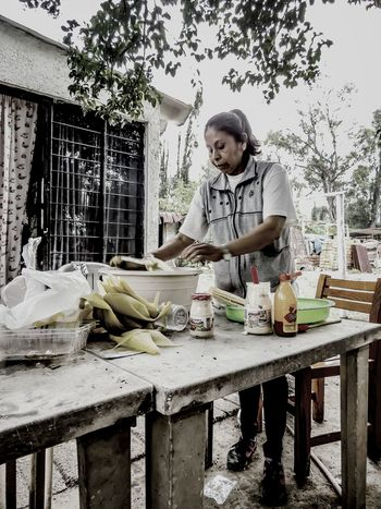 COLLECTION : DE LA MILPA A LA MESA / YEAR : 2014 / PLACE : CUEMANCO / TITLE : ELOTES Korn Mexican Culture Elote Nice People