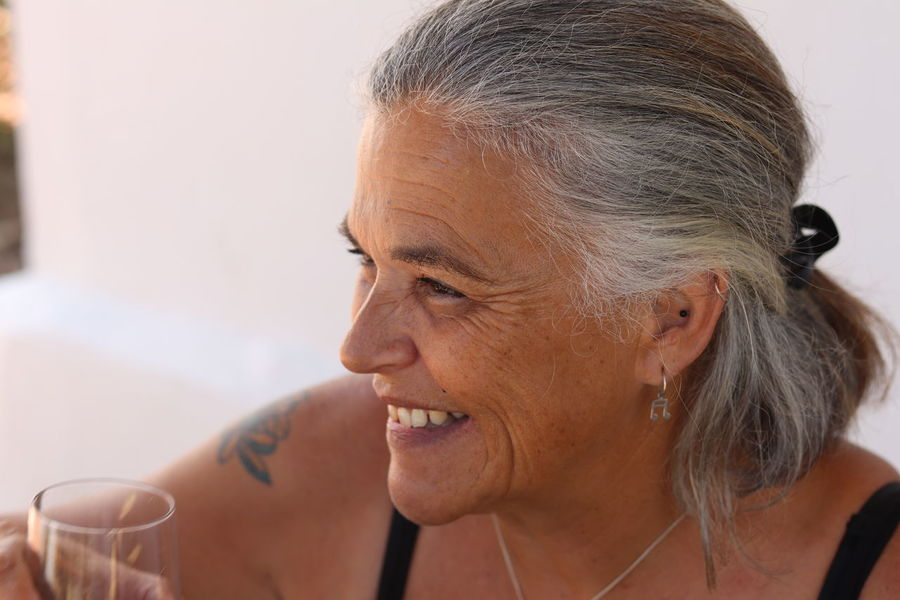 Adult Adult Beverage Cheerful Close-up Day Glass Gray Hair Happiness Headshot Indoors  One Person People Real People Restaurant Retirement Senior Adult Senior Women Smiling This Is Aging