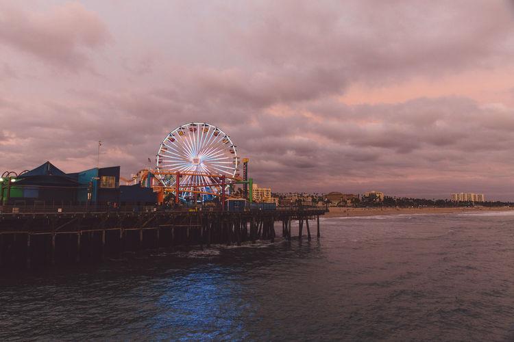 Santa Monica At Dusk