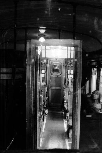 Train's Doors, Naples Indoors  Transportation Train - Vehicle Blackandwhite Public Transportation Old Train